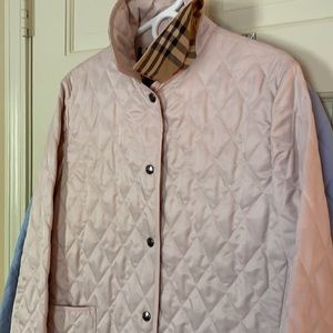 Authentic Burberry quilted jacket light pink